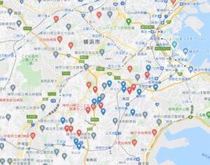 港南区の水道工事マップ